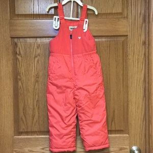 Girls snow pants, sz 4t, pink